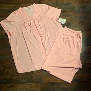 Lissome Pajama Set Polytricot 2X Rose